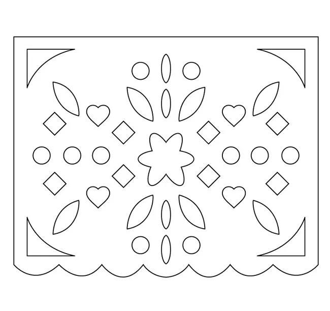 Plantillas de calaveras para hacer papel picado MUY FÁCIL