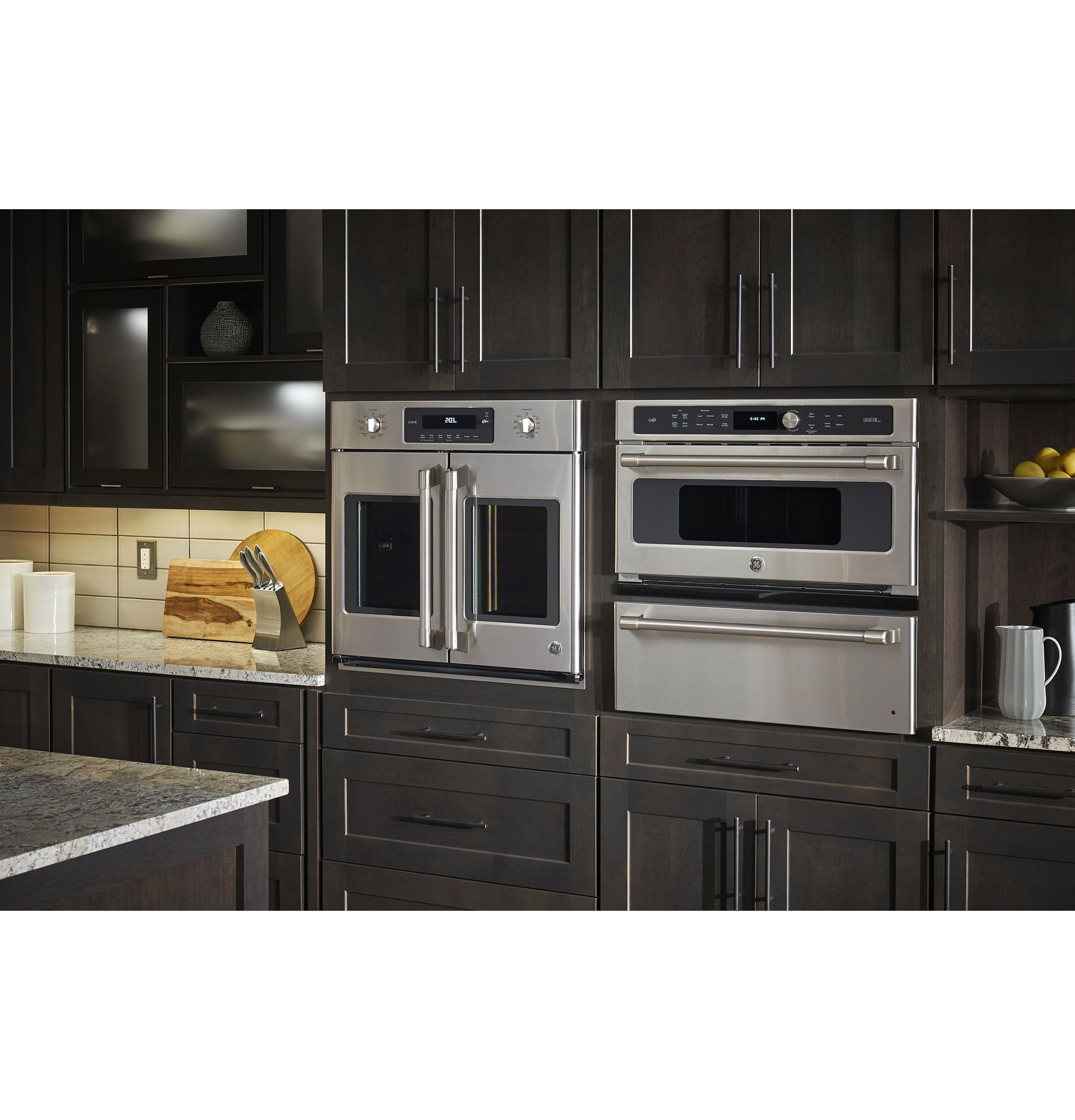french door wall oven kitchen remodel