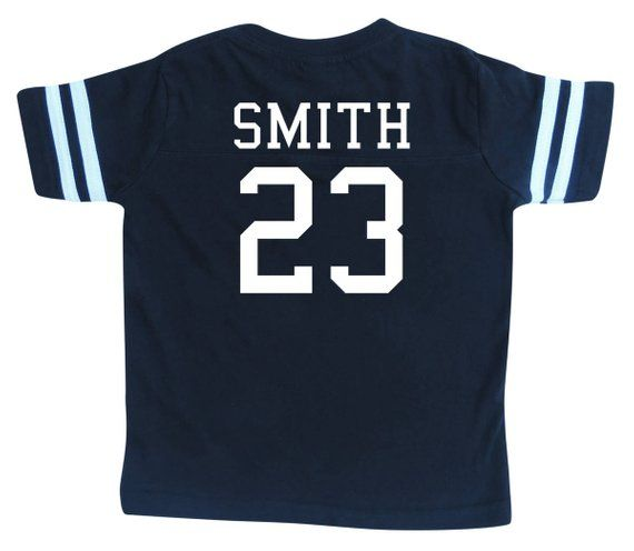 ae58bf9f060 Custom Cotton Football Sport Jersey Toddler and Child Personalized with  Name and Number-FRONT and BA