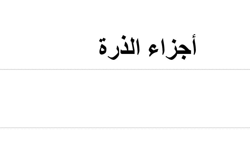 بوربوينت درس اجزاء الذرة للصف السابع مادة العلوم المتكاملة Math Math Equations Arabic Calligraphy