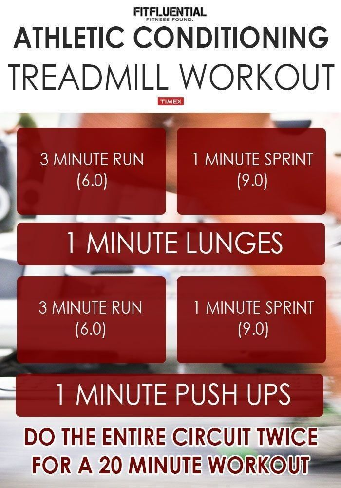 atheltic conditioning treadmill workout