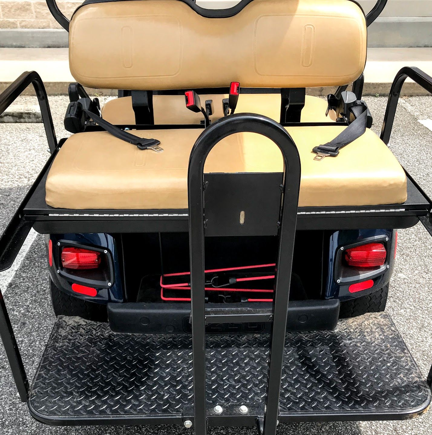 Golf Cart Seat Belts Keep Front and Rear Passengers Safe