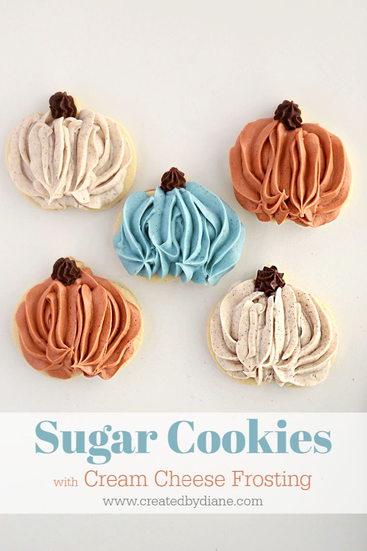 Frosting Piped Sugar Cookies | Created by Diane #halloweensugarcookies