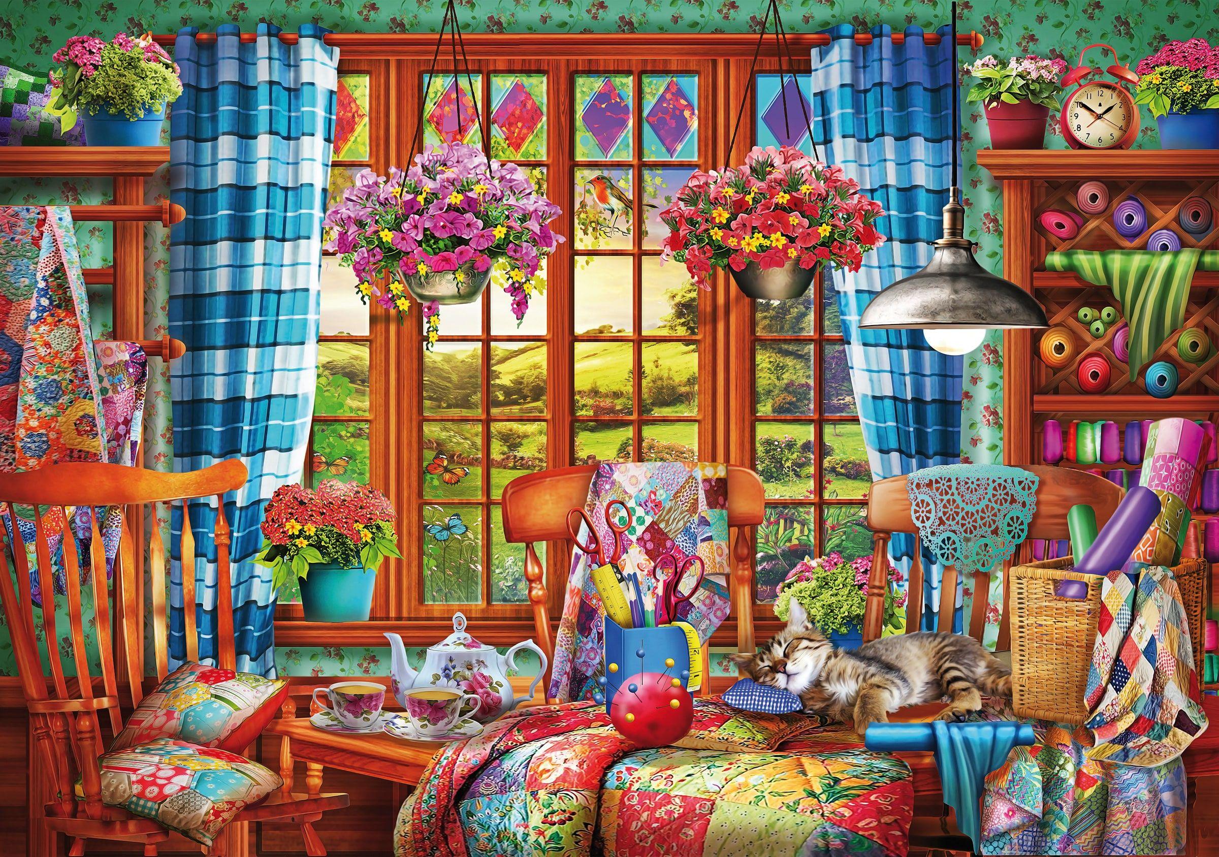 e4b5c38c1877 Ye Olde Stitching Room All Wooden Jigsaw Puzzles in 2019 | Birthday ...