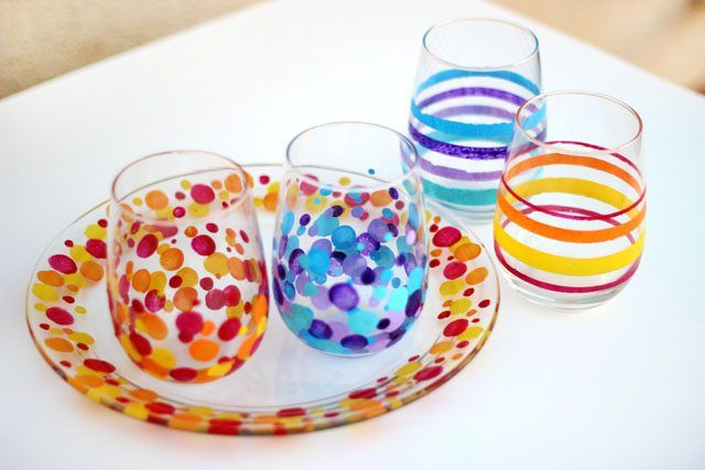 paint glass with acrylic paints no artistic ability required