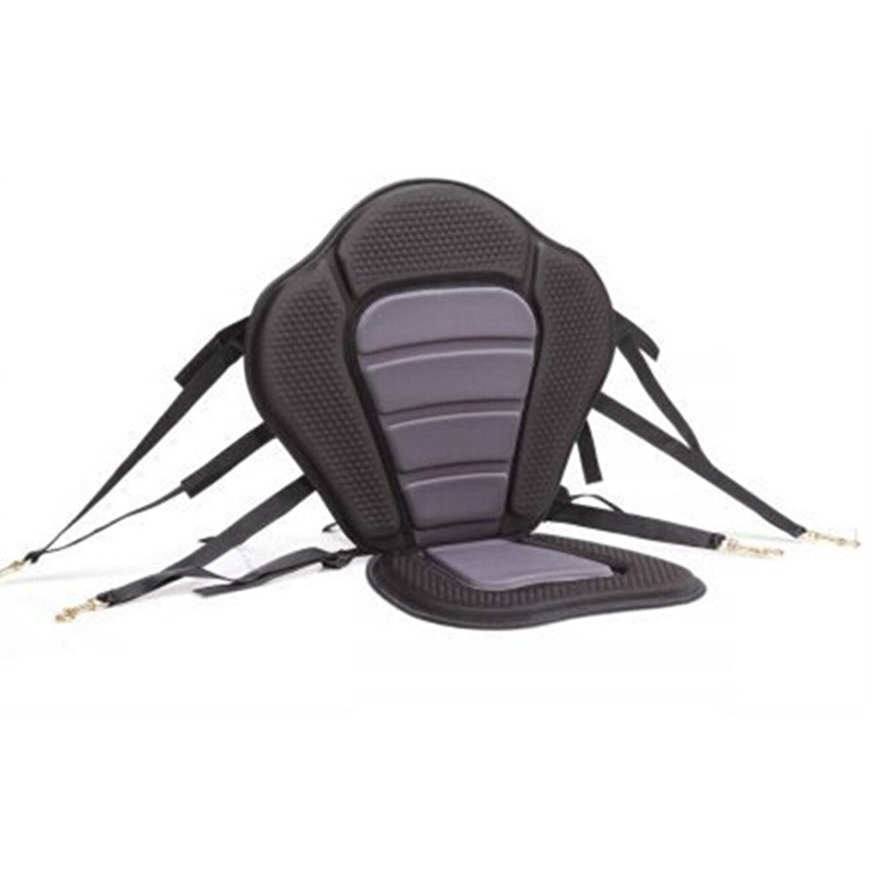 Adjustable Padded Kayak Seat Deluxe With Straps Brass Snap Hooks