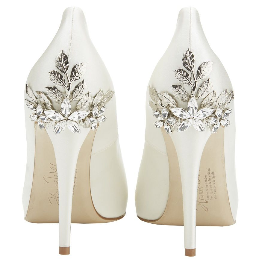 Perfect Bridal Sonya Shoes Taupe Satin Crystal Bridal Accessories Wedding Shoes Bride Crystal Bridal Accessories Bridal Shoes