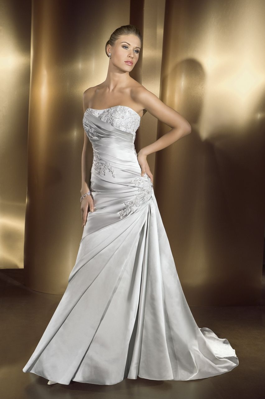 Cheap silver dresses for weddings  Pin by El on Wedding Dress Ideas  Pinterest  Dress ideas Wedding