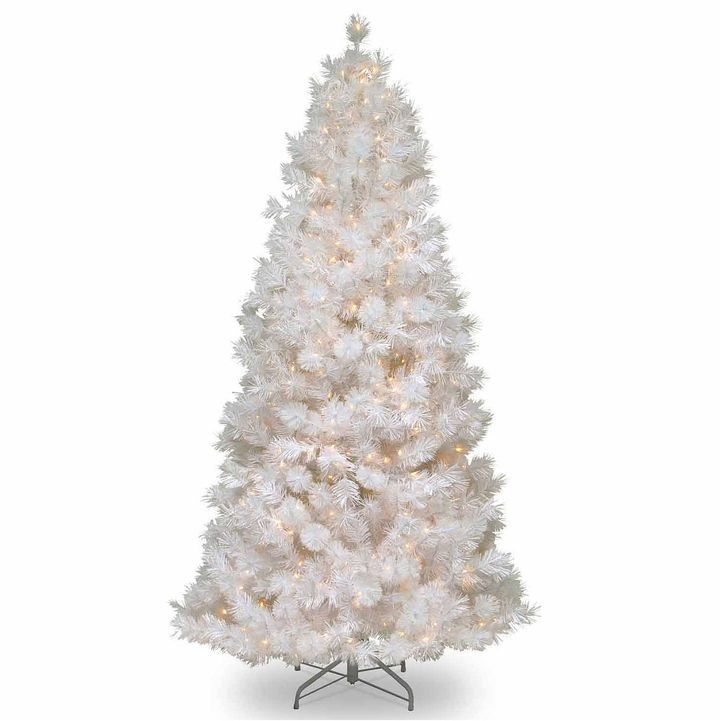 stunning 7 12 foot wispy willow grande white slim pre lit christmas tree affiliate unique christmas tree themes pinterest pre lit christmas tree - 7 1 2 Foot Christmas Tree