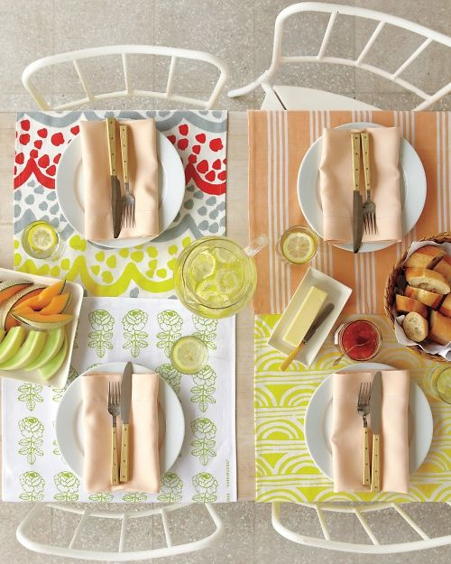Tea-Towel Table Runners | Easy sewing projects, Summer ...