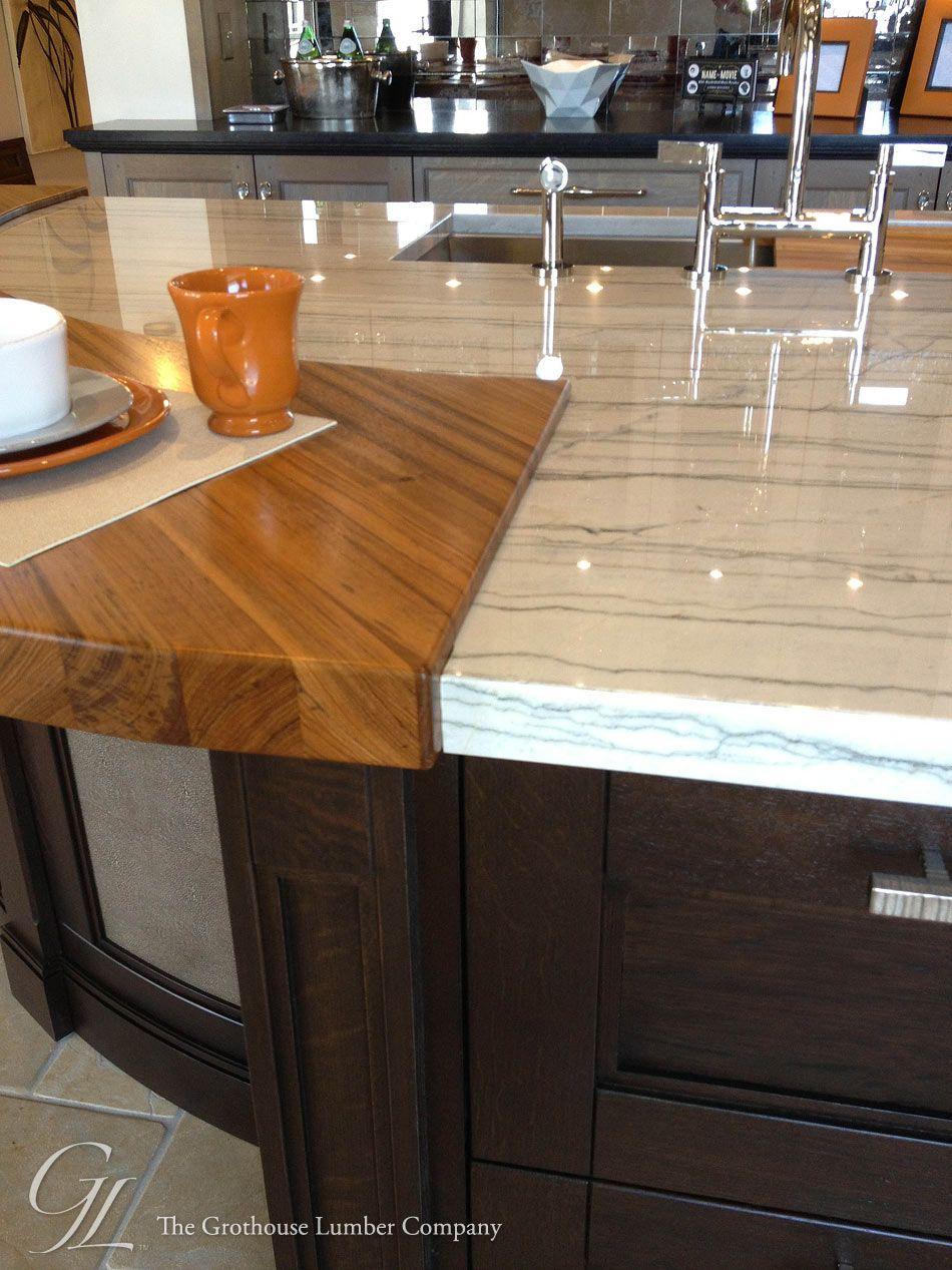 Custom Teak Wood Countertop In Denver Colorado By Grothouse Wood Kitchen Counters Countertop Design Countertops