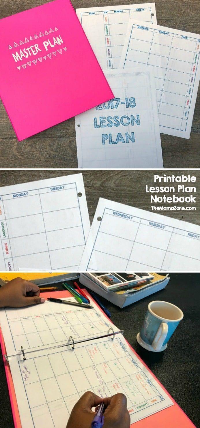 printable homeschool lesson plan book lesson plan templates
