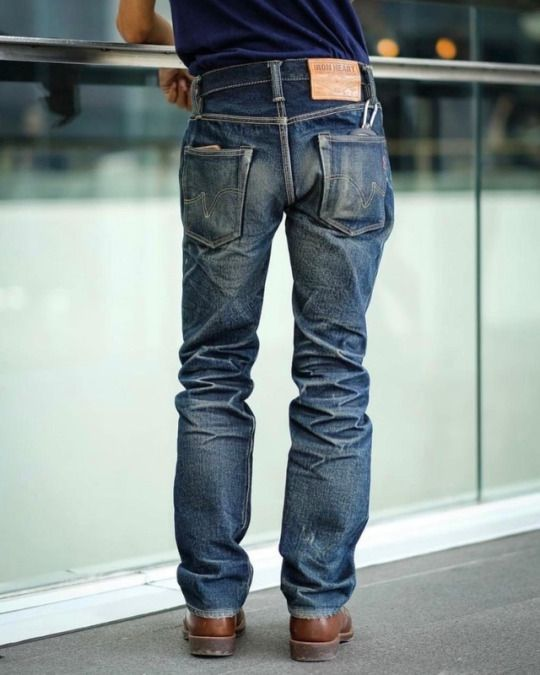 denim jeans indigo selvedge fades panta rugged workwear