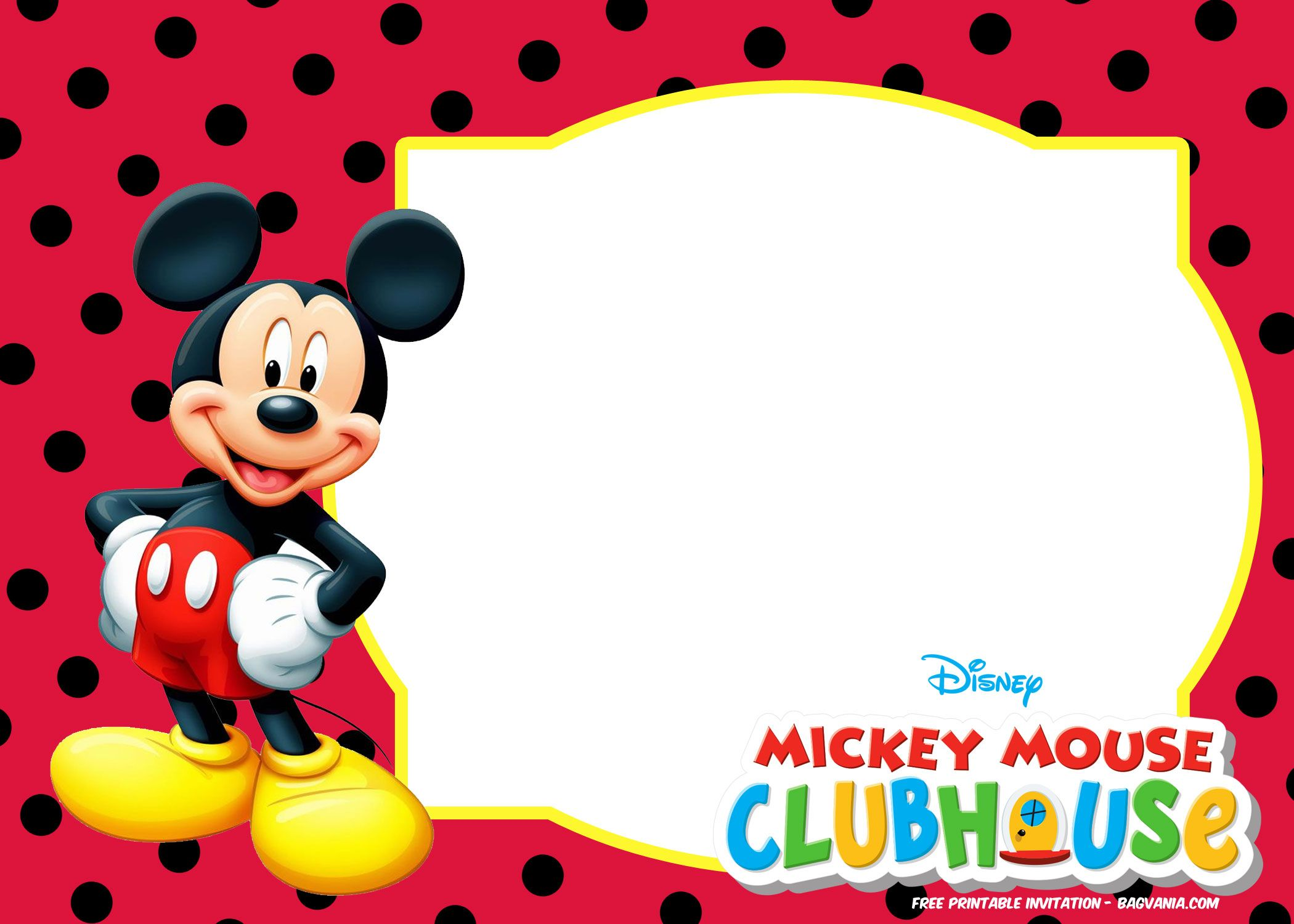 Free Mickey Mouse Summer Birthday Invitations Mickey Mouse Birthday Invitations Mickey Mouse Template Mickey Mouse Invitations Mickey mouse birthday card template