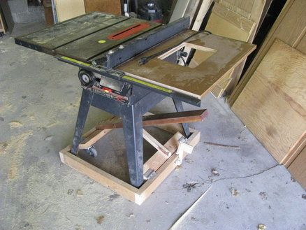 Table Saw Mobile Base Diy Version By Joel Wires Lumberjocks Com Woodworking Community Diy Table Saw Table