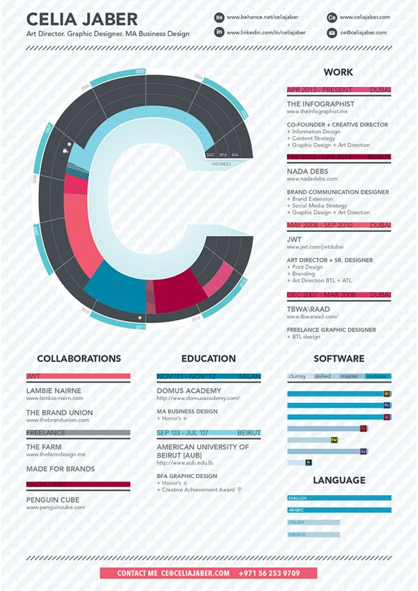 Infographic Resume By The Infographist Via Behance Infographic Resume Business Infographic Resume Design Creative