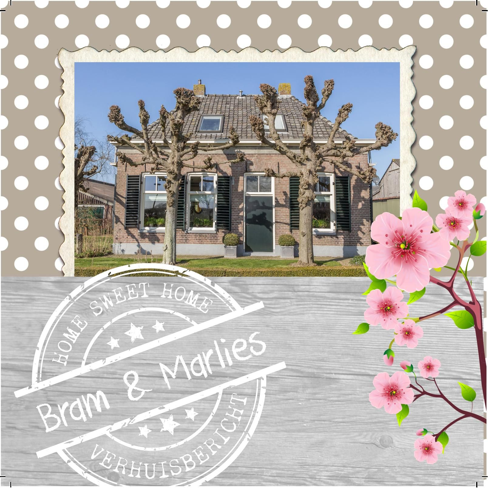 Design: Fastcards www.fastcards.nl - Verhuiskaart verhuisbericht Home Sweet Home