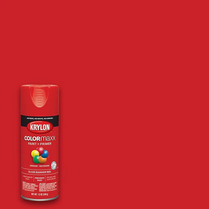 Krylon Colormaxx Gloss Banner Red Spray Paint And Primer In One Actual Net Contents 12 Oz Lowes Com Red Spray Paint Krylon Paint Primer