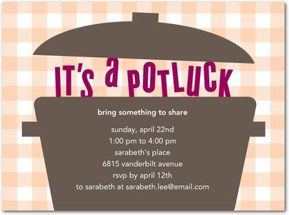 Potluck and dinner party invitations httpwww potluck and dinner party invitations httppartyinvitationwording stopboris Gallery