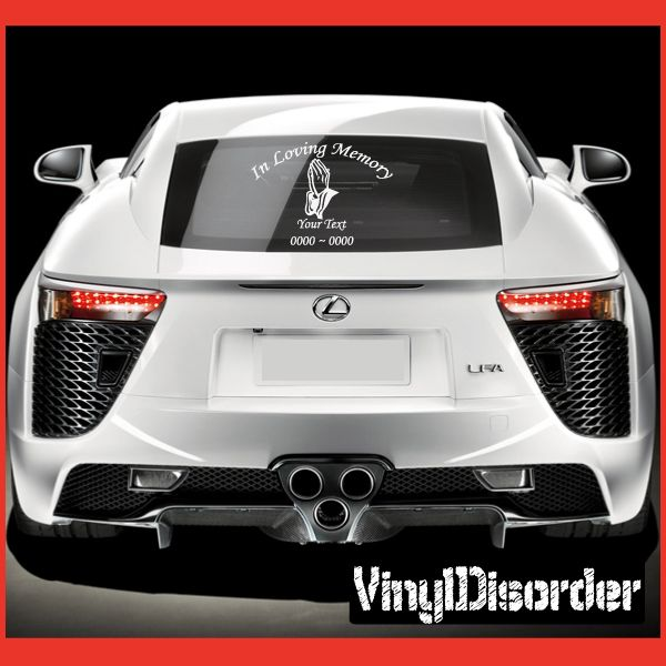 American  In Loving Memory Custom Car Or Wall Vinyl Decal - Lexus custom vinyl decals for car