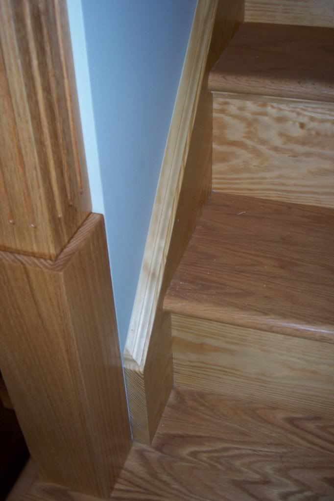 Best Staining Pine Stairs Moldings And Trim Staining Stairs 640 x 480