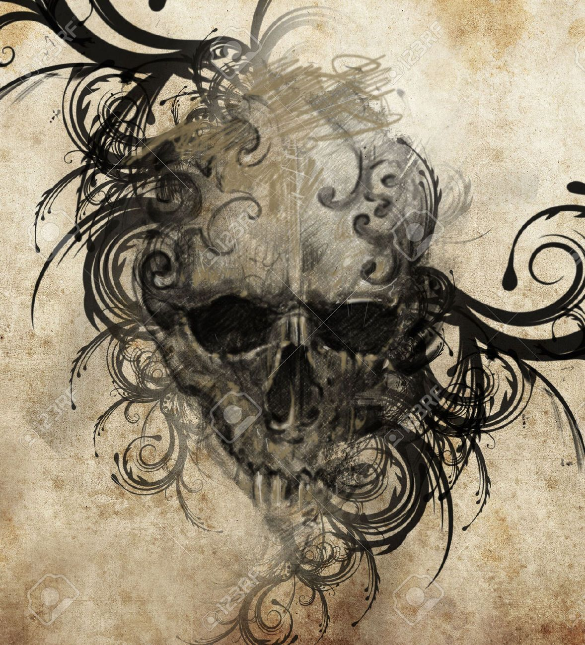 motif tatouage tour de bras pine recherche google skulls pinterest totenk pfe. Black Bedroom Furniture Sets. Home Design Ideas
