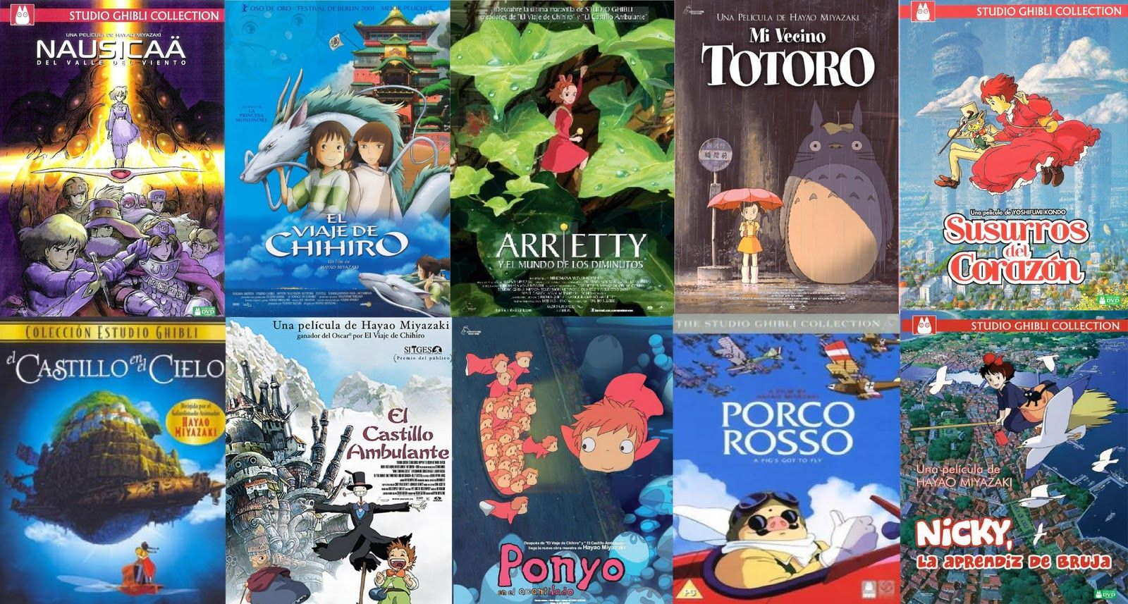 Peliculas De Anime Totoro Ponyo