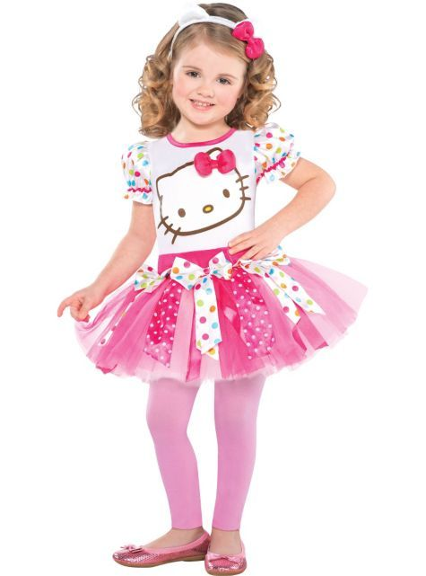 a2217fa6e Girls Pink Hello Kitty Costume - Party City | HALLOWEEN in 2019 ...
