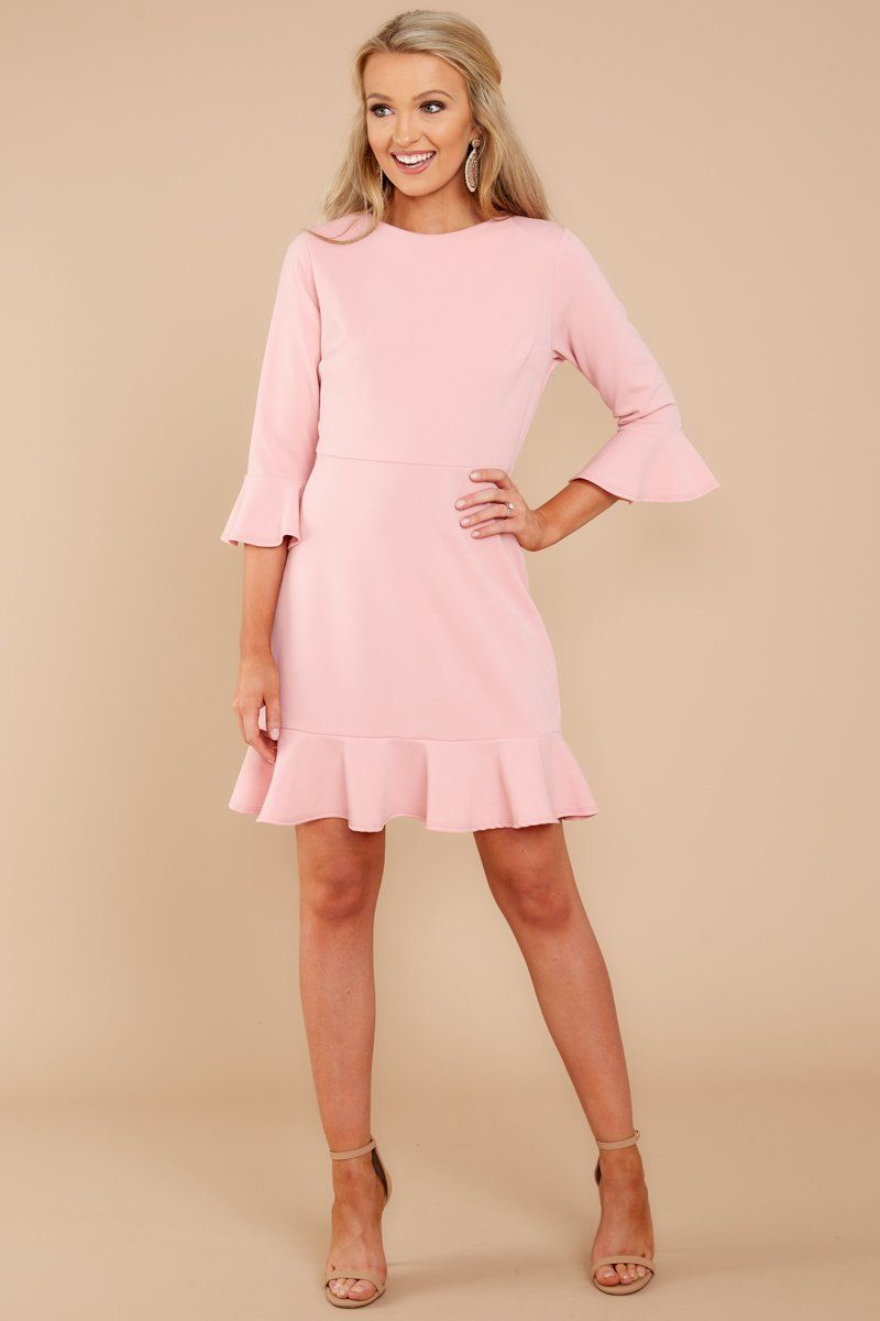 382fa9778973 Chic Blush Pink Dress - Cute Dress - Dress -  34 – Red Dress Boutique