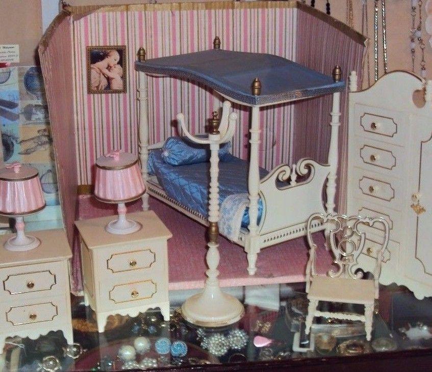 Galletti cicogna camera da letto casa delle bambole perfetta vintage ...