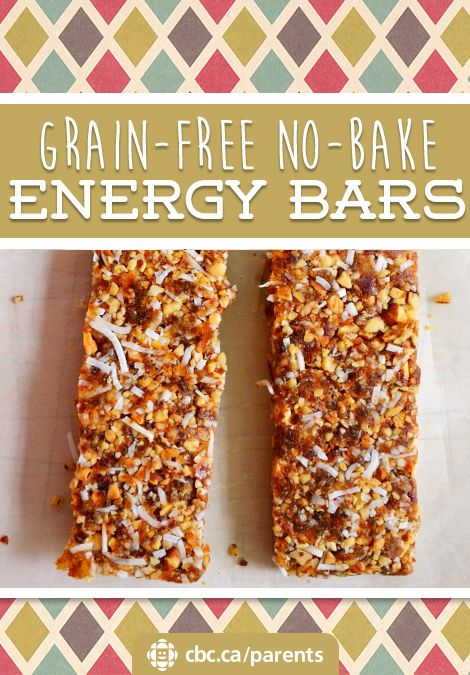 Grain-Free No-Bake Energy Bars | Food | Recipes