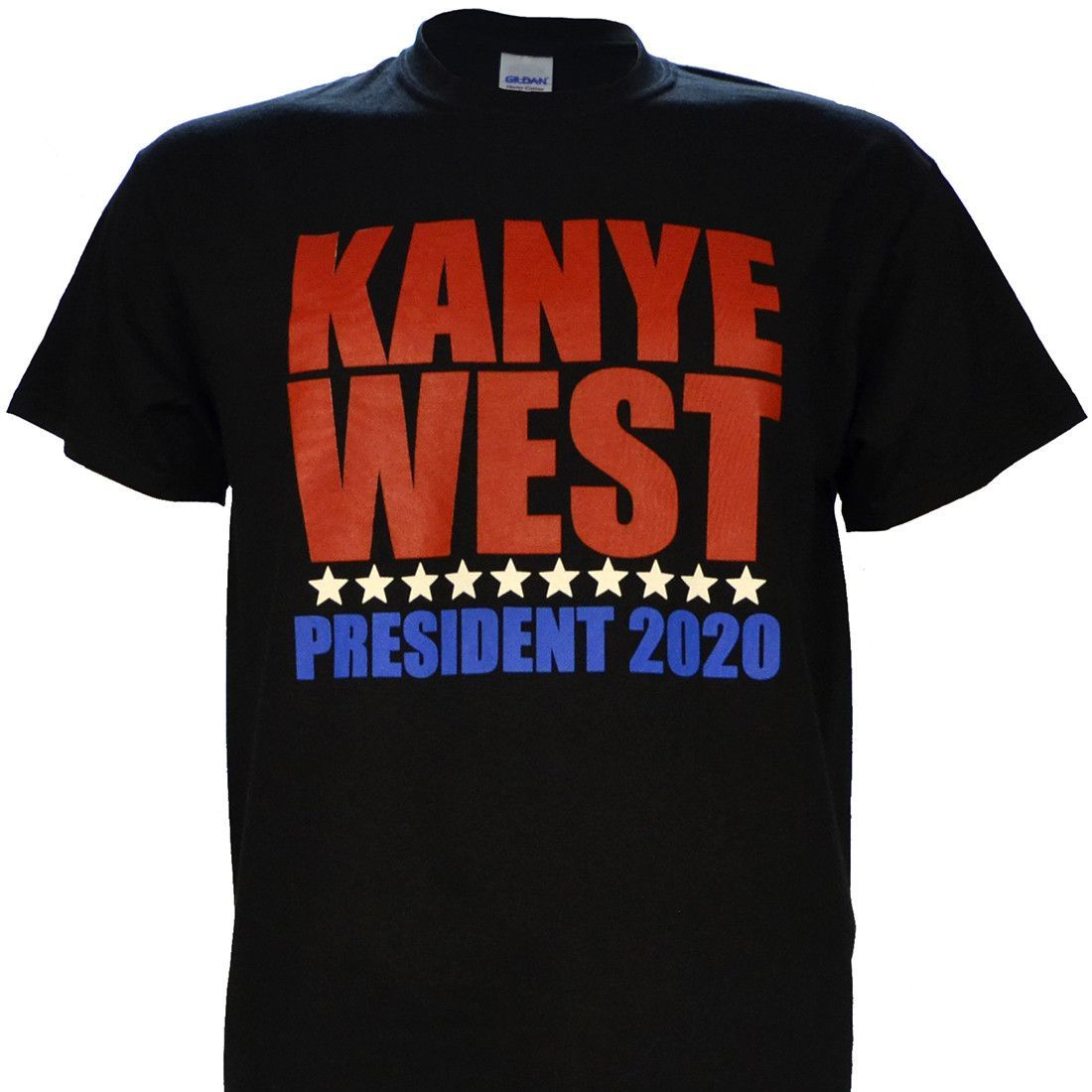 Kanye West For President 2020 On Black Short Sleeve T Shirt With Images Kanye West Political Shirts Deadpool Shirt