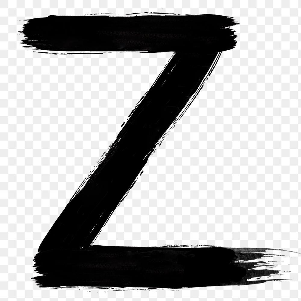 Letter Z Png Brush Stroke Typography Free Image By Rawpixel Com Mind Typography Brush Strokes Png