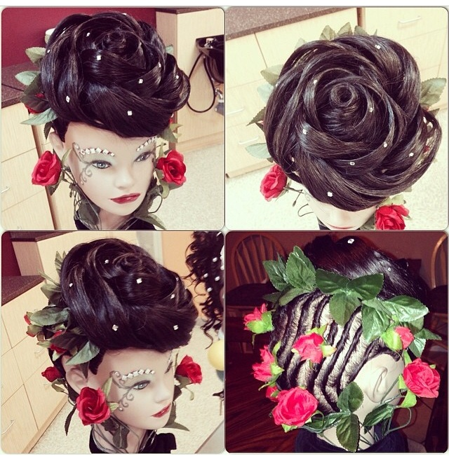 Creative Hairstyle Competition! #roseupdo #updo ...