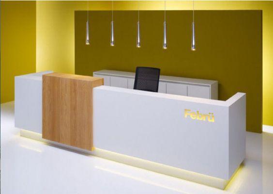 Oficina recepci n dise os con iluminaci n for Recepciones modernas para oficinas