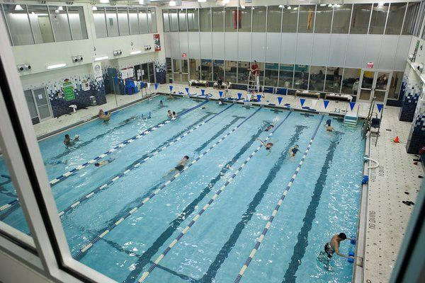 Mcburney ymca 125 west 14th street 7 lane pool pools for Garden city ymca pool schedule