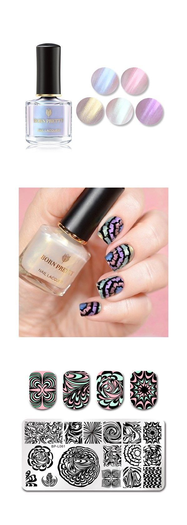 Colorful gorgeous shell designs manicured by tanyawish