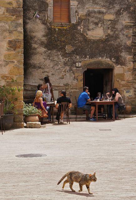 Monells, Girona  Catalonia (relaxing cup of café con leche........)
