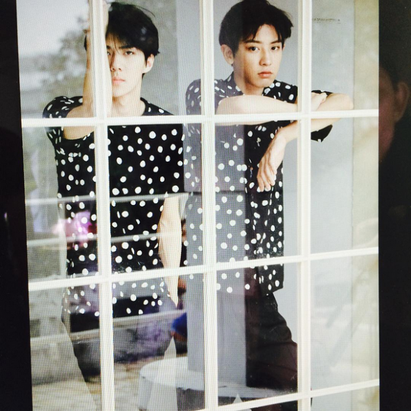 EXO's Chanyeol & Sehun in CeCi Magazine August 2015 issue   SBS PopAsia