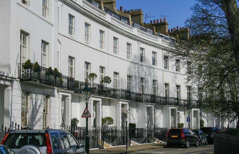 Row Of Houses In London Row Of Georgian Terraced Houses In London
