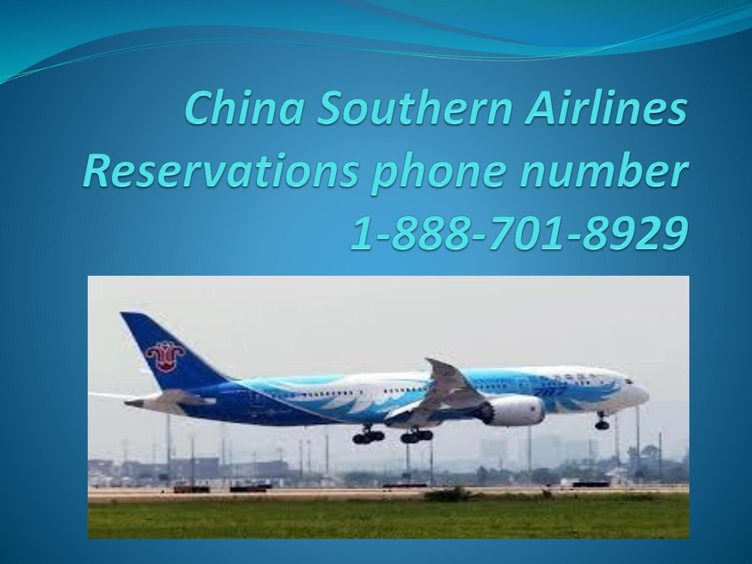 China Southern Airlines reservations phone number 1888
