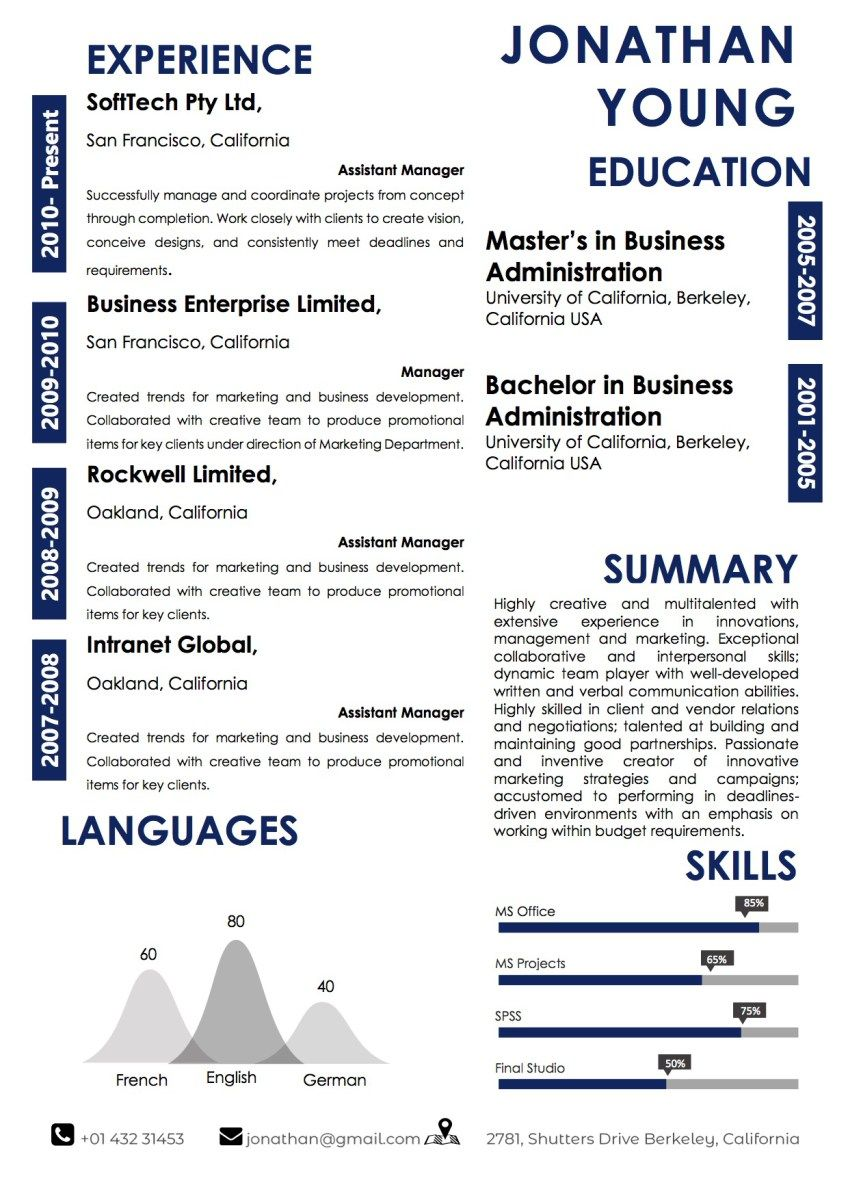 Word Resume Template 2007 Classy Best Blue Microsoft Word Resume Template  Word Resume Templates .