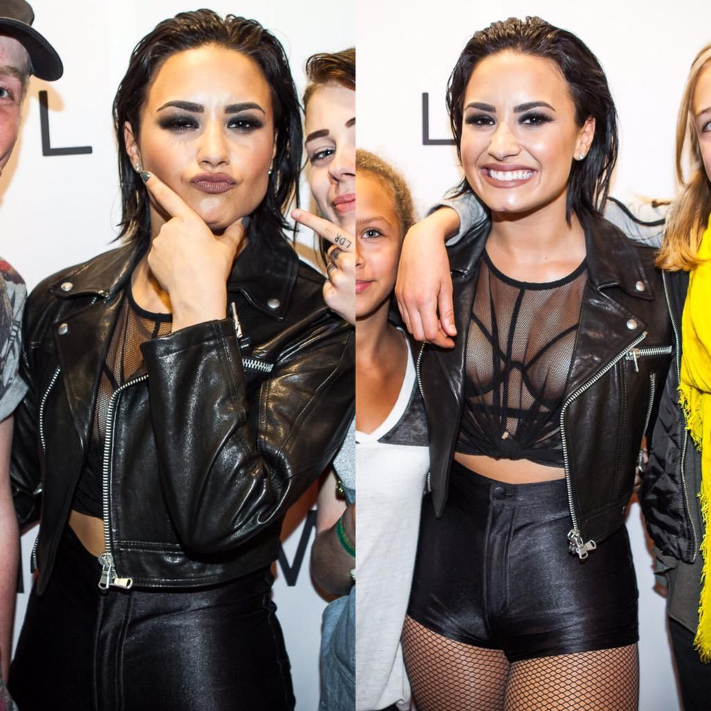 Pin by aj styles on demi lovato pinterest demi lovato at a meet and greet in stockholm sweden september kristyandbryce Image collections