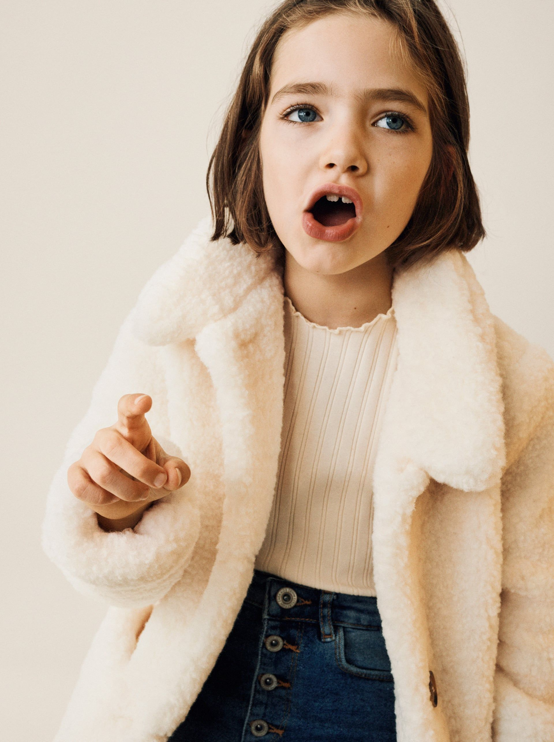 Image 1 Of Faux Shearling Coat From Zara Kinderbekleidung Madchen Kindermode Madchen Kinderkleidung