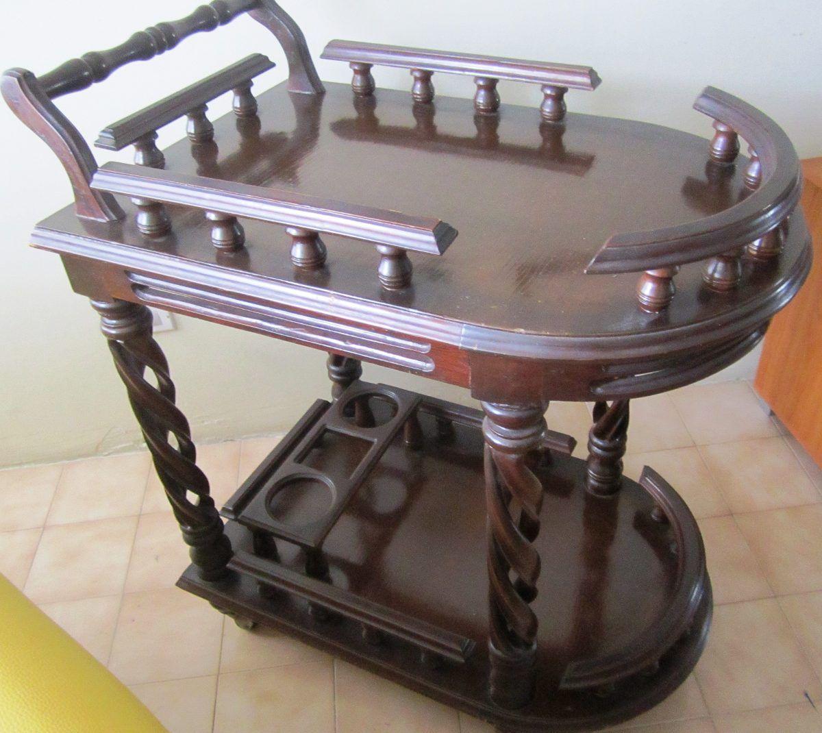 Mueble Mini Bar Rodante Madera Tipo Carreta Bs 23 000 00 En  # Muebles Kukulcan