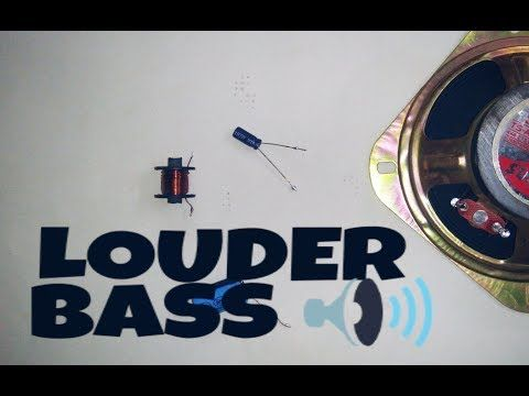 make speaker louder and high bass | using choke coil and capacitor  -  youtube