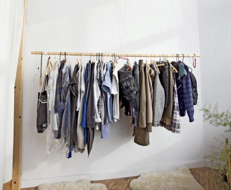 Elegant Lovely Solution For No Closet Space.