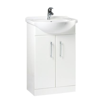 B Q White Vanity Unit Basin Departments Diy At B Q White Vanity Unit Vanity Units Vanity