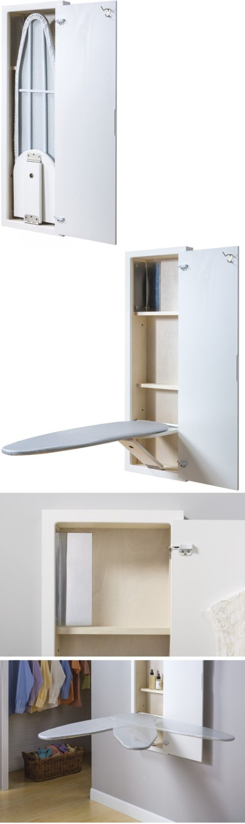 NuTone EZ Install Wall Mount Built In Ironing Center Cabinet w Fold Down Board