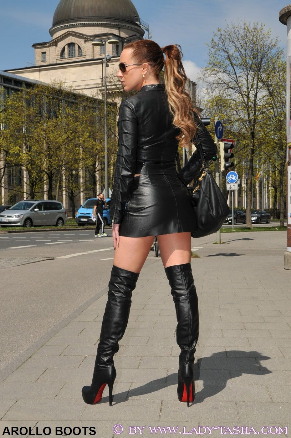 Sexy women in leather boots